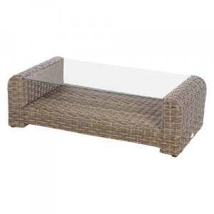 Table basse rectangulaire Moorea - Naturel