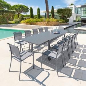 Table De Jardin Extensible Piazza Aluminium 320 X 100 Cm
