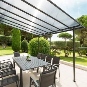 Salon de jardin Santo Pietro Noir - 5 places - Salon de ...
