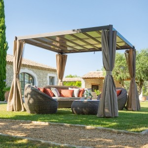 Gazebo Flamenco (3 x 3 m) Marrone Tonka
