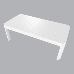 Table basse de jardin Aluminium Venice - Blanc - Salon de jardin ...