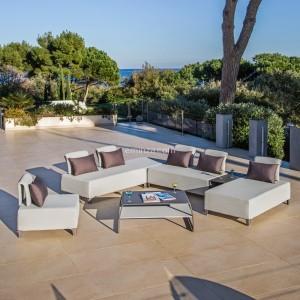 Salon de Jardin Gili Gris - 4 places - Salon de jardin, table et ...