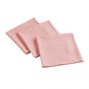 Lot de 3 serviettes Aubeline Rose