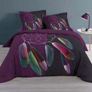 tapis rond d150 cm anoki violet tapis eminza. Black Bedroom Furniture Sets. Home Design Ideas