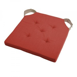 Galette de chaise Duo Rouge terracotta