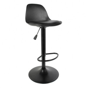 Lot de 2 tabourets de bar Isak Noir