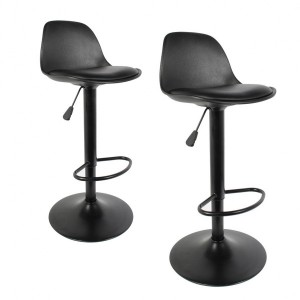 Set di 2 sgabelli bar Isak Nero
