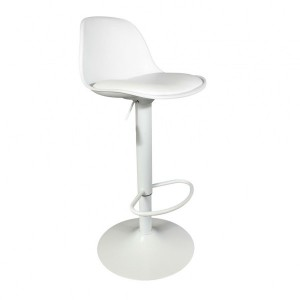 Lot de 2 tabourets de bar Isak Blanc
