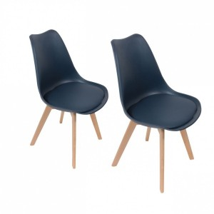 Lot de 2 chaises Stuffed Bleu