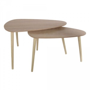 Lot de 2 tables Galet Naturelles