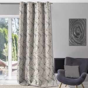 Cortina semi opaca (140 x 250 cm) Eventail Gris
