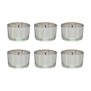 Lot de 6 photophores Classica Argent