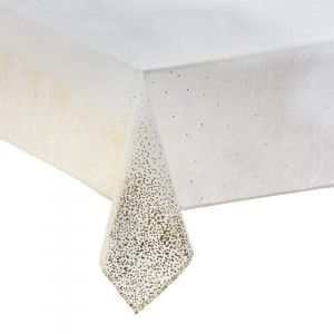 Mantel rectangular (L240 cm) Leopardo Blanco