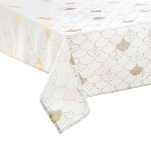 Nappe rectangulaire (L360 cm) Geometry Blanc