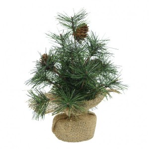 Sapin artificiel de table pomme de pin H25 cm Vert