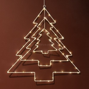 Árbol luminoso 3D Blanco cálido 75 Micro LED