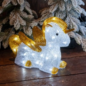Unicornio luminoso Feeria Blanco frío 40 LED