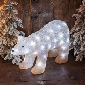 Oso luminoso Canela Blanco frío 50 LED