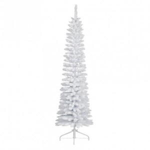 Sapin artificiel de Noël Narrow H210 cm Blanc