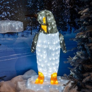 Pingouin lumineux Happy Blanc froid 200 LED