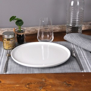 Lot de 6 sets de table Cabourg Gris