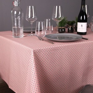 Nappe rectangulaire enduite (L200 cm) Eventail Rose