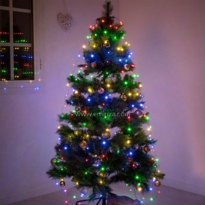 Cortina de luces para árbol alto 1,20 cm Multicolor 120 LED