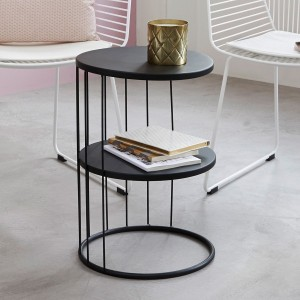 Lot de 2 tables d'appoint Kobu Noire