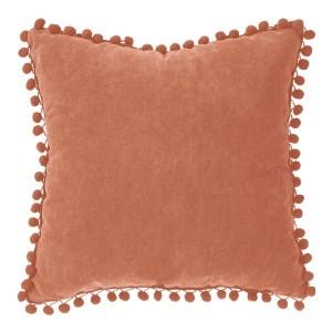 Cuscino (40 cm) Pompons Rosso terracotta