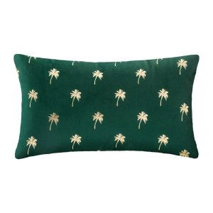 Coussin rectangulaire Or Tropic Vert cèdre