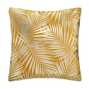 Coussin velours (40 cm) Or Tropic Jaune ocre