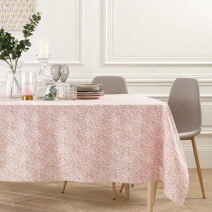 Nappe rectangulaire coton (L240 cm) Or Tropic Rose