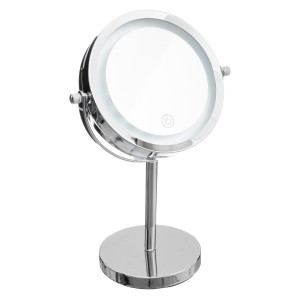Espejo LED Pie Alto Cromo