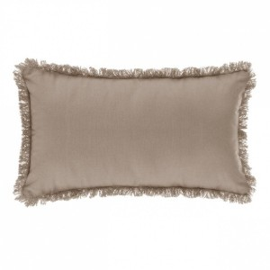 Coussin rectangulaire Frange Lin