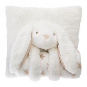 Coussin plaid Lapin Blanc