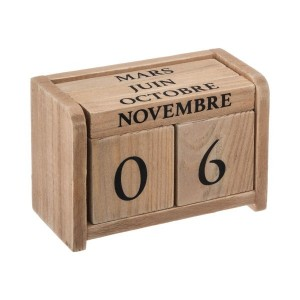 Calendrier Bois colonial Naturel