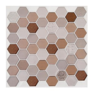 Set di 2 fogli stickers Hexa Marrone