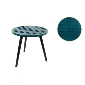 Table d'appoint Motif Sculpté Bleue