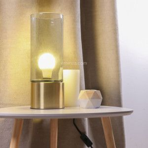 Tischlampe Cylindre Gold