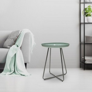 Table d'appoint Glossy Vert d'eau