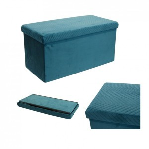 Pouf pliant Double Margot Bleu