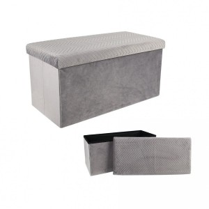 Pouf pliant Double Margot Gris