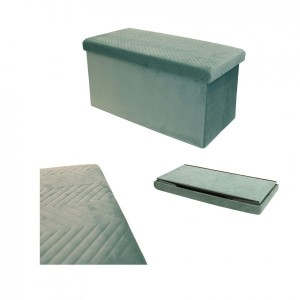 Puf plegable Doble Margot Verde agua