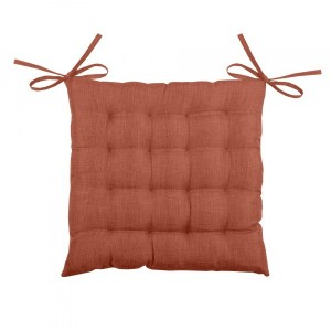 Coussin de chaise Béa 16 points Terracotta