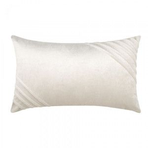 Coussin velours rectangulaire Tania Ecru