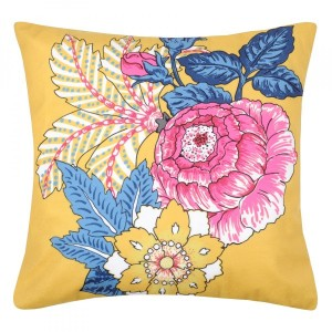 Coussin velours (40 cm) Darling Jaune moutarde