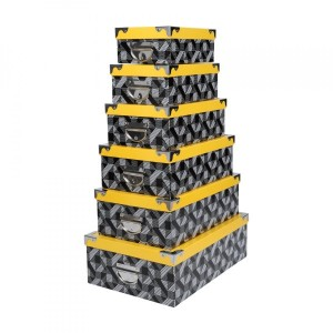 Set di 6 scatole Beely Giallo