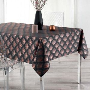 Nappe rectangulaire (L240 cm) Goldy Gris anthracite