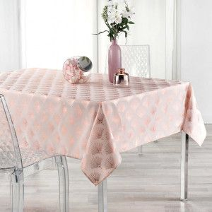 Nappe rectangulaire (L240 cm) Goldy Rose