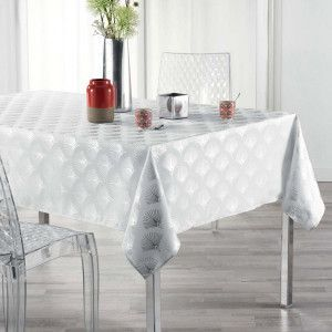 Nappe rectangulaire (L300 cm) Goldy Blanche